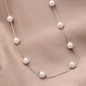 Popcorn Chain Pearls Necklace