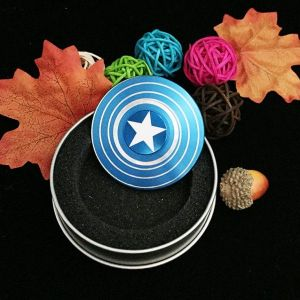 captain america blue fidget spinner