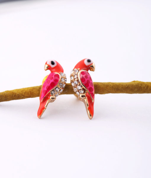 small stud parrot earrings