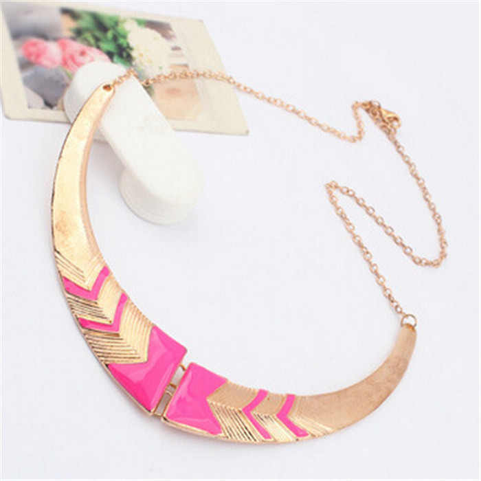 Neon Color Vintage Collar Necklace