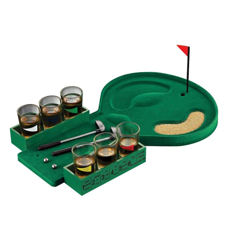 6 Shot Glass Golf Drinking Game