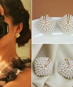 simulated pearl stud earrings