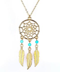Golden Dream catcher Necklace