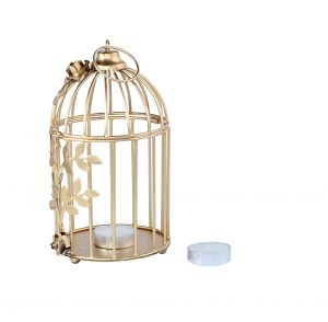gold bird cage metal
