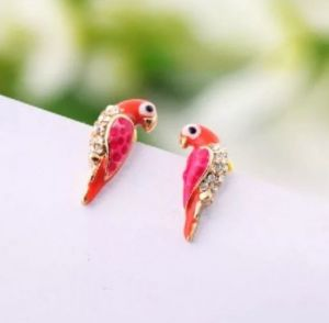 parrot-stud earrings