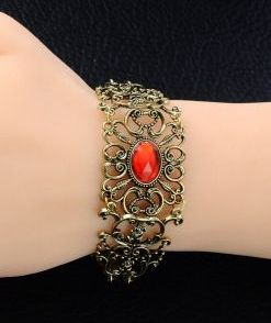 imitation ruby metal bracelet