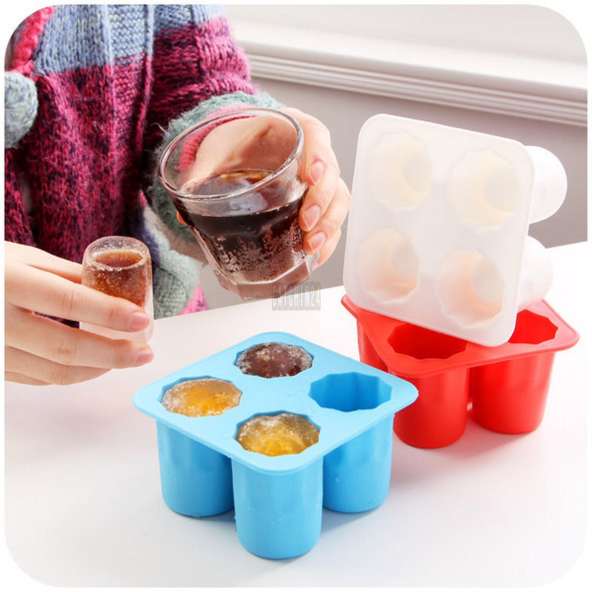 Ice Shot Glasses (silicon Tray)