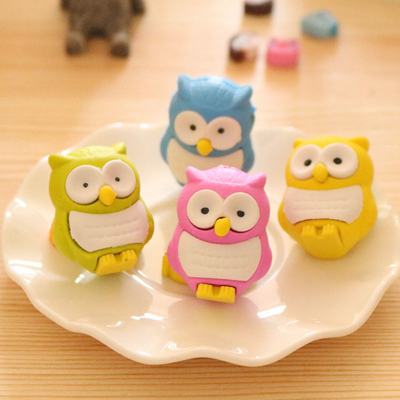 Owl shaped eraser return gifts