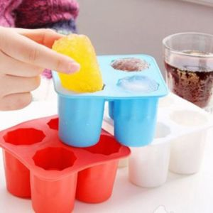 4 Cup Ice cube shot shape silicone