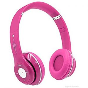 Pink bluetooth headphone
