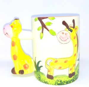 Giraffe Design Kids Mug