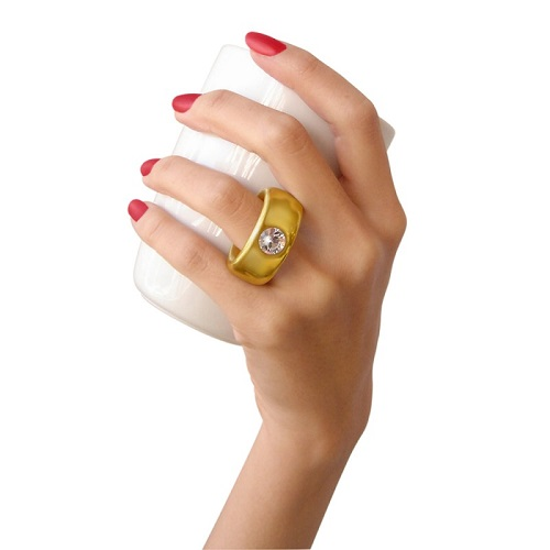 fashion queen golden ring cup