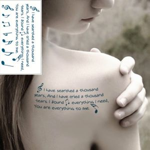 poem Temporary Tattoo