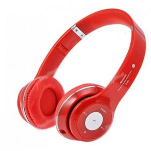 Red bluetooth headphone