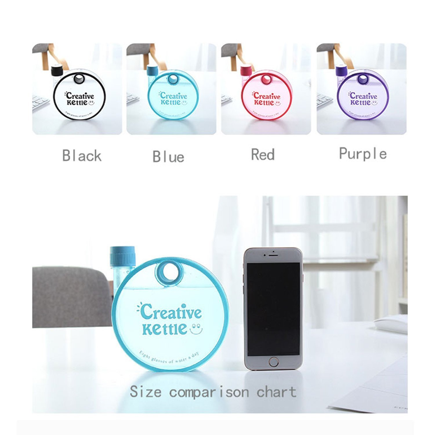 Snail Plastic Notebook Water Bottle