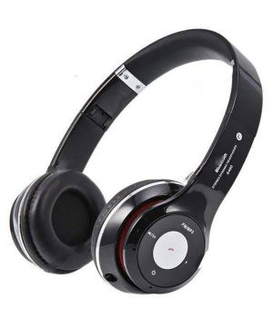 Black bluetooth headphone