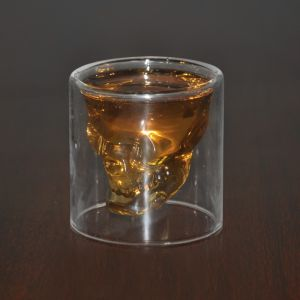 Double Walled Skull Glass