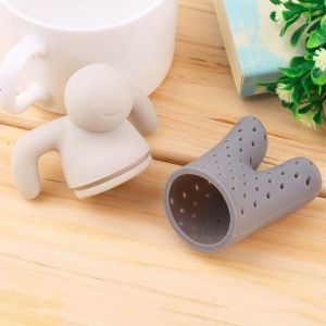 Load up his silicone pants with tea, perch him atop your cup, and watch as he effortlessly steeps your tea. The dishwasher and microwave-safe Mr. Tea Infuser is the perfect gift for any lover of tea.