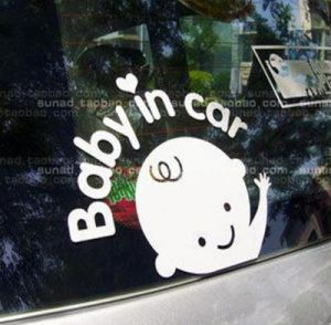 baby in car sticker
