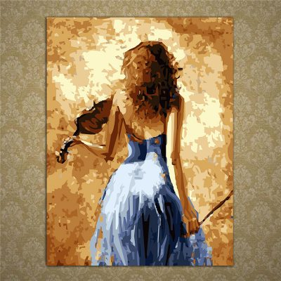 Violin Lady Painting