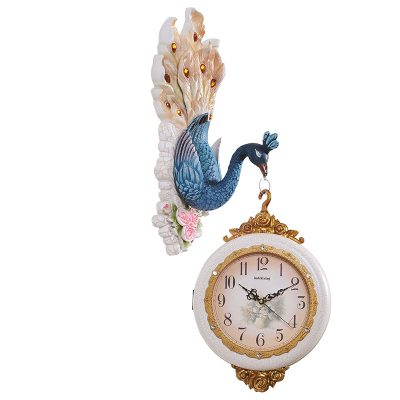 Dual Hanging Peacock Wall Clock Wall Clock For Home