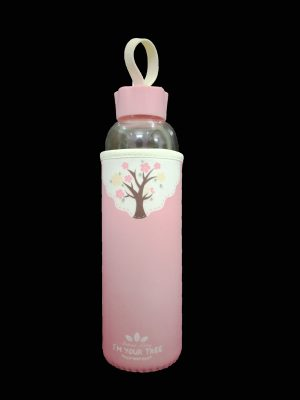 Glass Bottle Pink