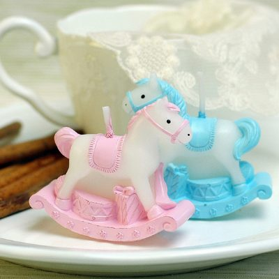 Blue Baby Horse Candle
