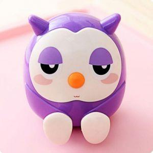 purple 3 in 1 owl holder