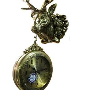 Dual Hanging Reindeer Wall Clock Wall Clock For Home