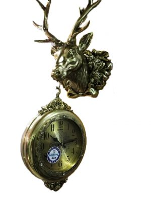 Metallic Reindeer clock