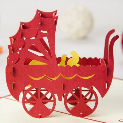 Baby Carriage 3D Card