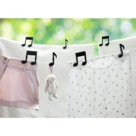 Music Notes Cloth Clip