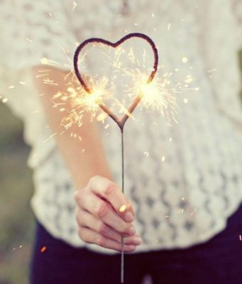 Heart Sparkler Candle