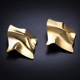 Gold Sheet Earrings