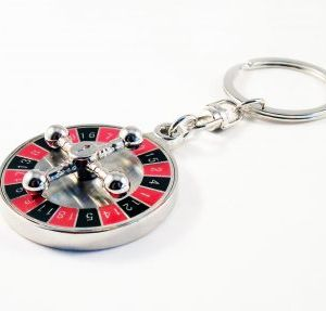 casino metal keychain
