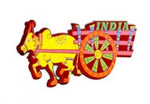 India Quirky Collection - Bullock Cart Magnet