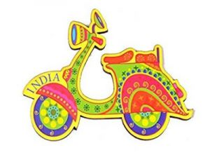 India Quirky Collection - Scooter Magnet