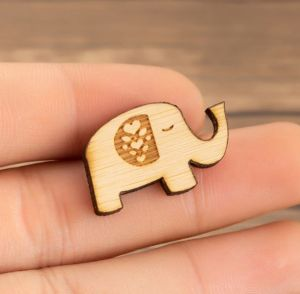 Elle Wooden Pin Brooch