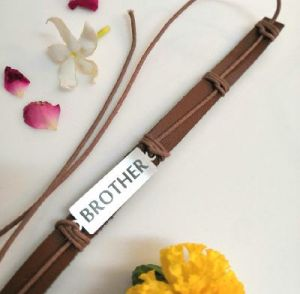 brother leather rakhi