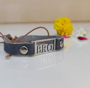 bro leather rakhi