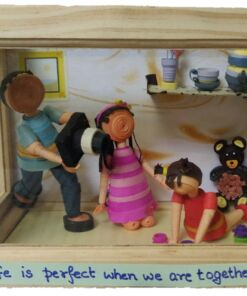 Customized Quilled Family Shadow Box