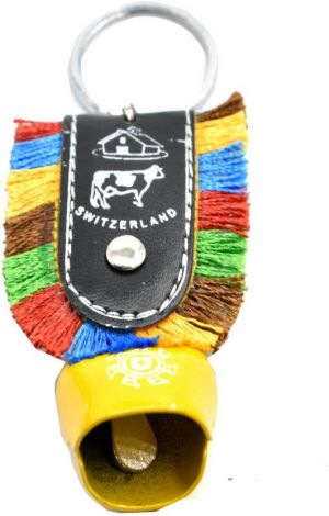 Cowbell metal keychain