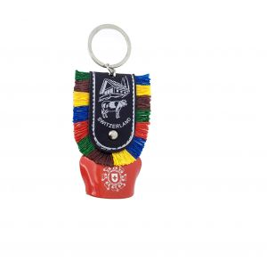 Cow Bell Metal Keychain