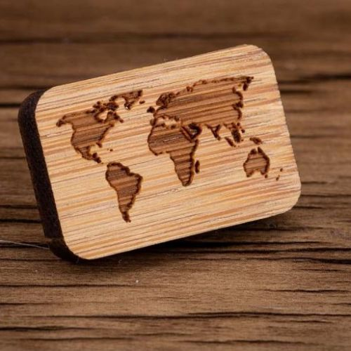 World Map Brooch