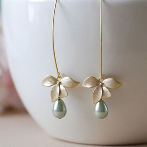 Blooming Orchid Dangler Earrings