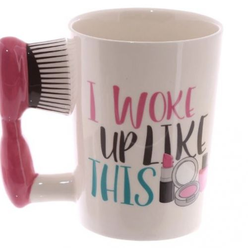 Hair Brush Mug - Fashionable gift for girls