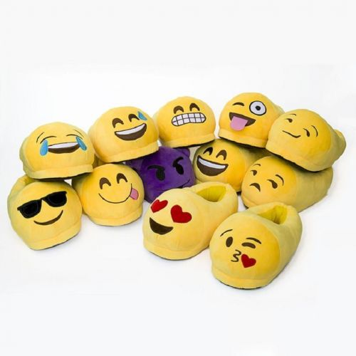 Emoticon Plush Slipper - Fits Most