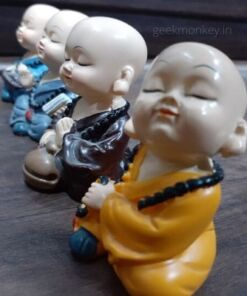Meditating Monks - Pray for Peace (set of 4)