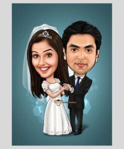 Cool Couple Caricature