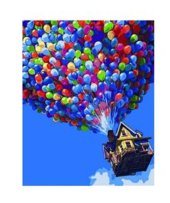 Up Movie PBN - Up up and away